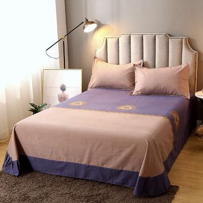 2020新款-全棉活性磨毛多规格单床单 冬季保暖加厚纯棉磨毛印花全棉磨毛床单单品床单被单 200X230直角床单 暮光之城