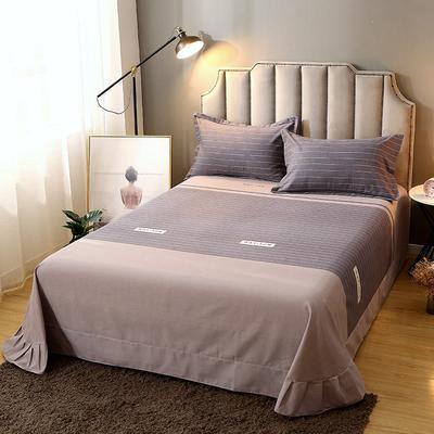 2020新款-全棉活性磨毛多规格单床单 冬季保暖加厚纯棉磨毛印花全棉磨毛床单单品床单被单 200X230直角床单 沃森