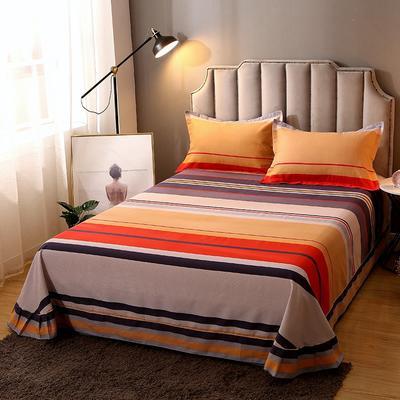 2020新款-全棉活性磨毛多规格单床单 冬季保暖加厚纯棉磨毛印花全棉磨毛床单单品床单被单 200X230直角床单 小时代