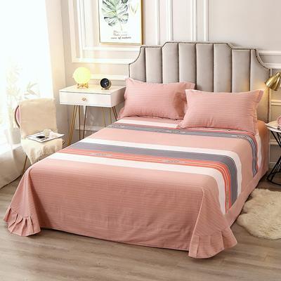 2020新款-全棉活性磨毛多规格单床单 冬季保暖加厚纯棉磨毛印花全棉磨毛床单单品床单被单 200X230直角床单 雅颂
