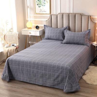 2020新款-全棉活性磨毛多规格单床单 冬季保暖加厚纯棉磨毛印花全棉磨毛床单单品床单被单 200X230直角床单 艺术格林
