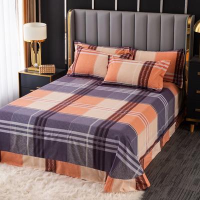 2020新款-百分百全棉生态磨毛多规格单床单 冬季保暖加厚纯棉磨毛床单床罩单品 180X230直角床单 都市生活-咖