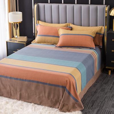 2020新款-百分百全棉生态磨毛多规格单床单 冬季保暖加厚纯棉磨毛床单床罩单品 180X230直角床单 风尚
