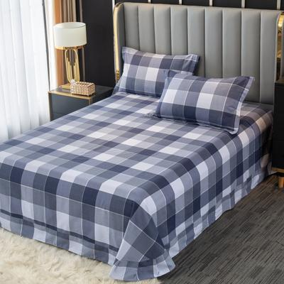 2020新款-百分百全棉生态磨毛多规格单床单 冬季保暖加厚纯棉磨毛床单床罩单品 180X230直角床单 格里斯