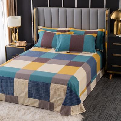 2020新款-百分百全棉生态磨毛多规格单床单 冬季保暖加厚纯棉磨毛床单床罩单品 180X230直角床单 魔方城
