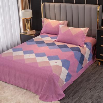 2020新款-百分百全棉生态磨毛多规格单床单 冬季保暖加厚纯棉磨毛床单床罩单品 180X230直角床单 纳瑞尔