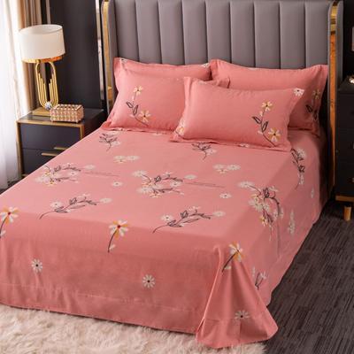 2020新款-百分百全棉生态磨毛多规格单床单 冬季保暖加厚纯棉磨毛床单床罩单品 180X230直角床单 浅浅苏更-粉
