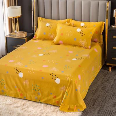 2020新款-百分百全棉生态磨毛多规格单床单 冬季保暖加厚纯棉磨毛床单床罩单品 180X230直角床单 青春序曲