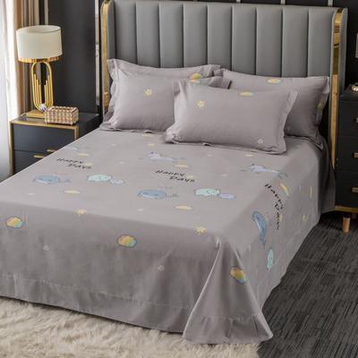 2020新款-百分百全棉生态磨毛多规格单床单 冬季保暖加厚纯棉磨毛床单床罩单品 180X230直角床单 淘气堡