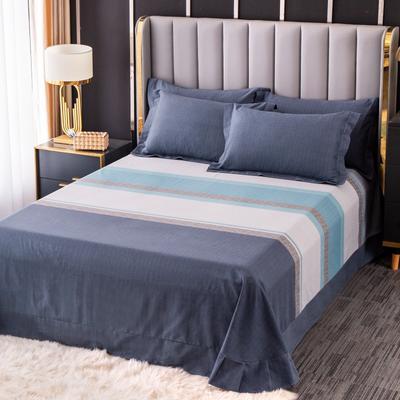 2020新款-百分百全棉生态磨毛多规格单床单 冬季保暖加厚纯棉磨毛床单床罩单品 180X230直角床单 威尔士