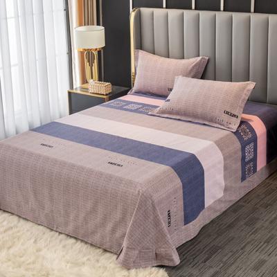 2020新款-百分百全棉生态磨毛多规格单床单 冬季保暖加厚纯棉磨毛床单床罩单品 180X230直角床单 温情时光-粉