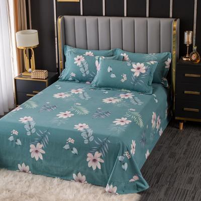 2020新款-百分百全棉生态磨毛多规格单床单 冬季保暖加厚纯棉磨毛床单床罩单品 180X230直角床单 雅漾