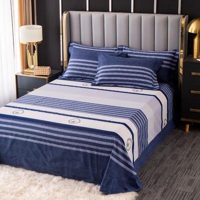 2020新款-百分百全棉生态磨毛多规格单床单 冬季保暖加厚纯棉磨毛床单床罩单品 180X230直角床单 遇见