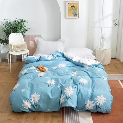 2021新款-田园风全棉12868多规格单被套 单品纯棉被套全棉被套斜纹活性印花 180x220cm 雏菊