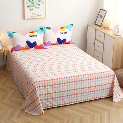 2021夏款全棉12868印花系列单品-被套  床单  枕套  单床笠 160X210cm单被套 爱心草莓