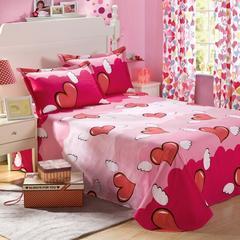 全棉斜纹单人床单双人被单 100%纯棉床上用品 天使 图片色 120cmx230cm