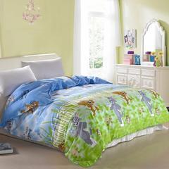 纯棉单人双人床全棉高密斜纹环保印花单被套1.6/1.8/2.0/2.2 动物 其他花色请留言 160