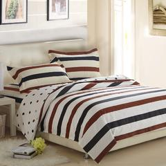 精品家纺-纯棉床上用品高密全棉斜纹印花床笠式四件套-裸婚 规格一 1.2m(4英尺)床
