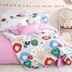 全棉斜纹韩式四件套纯棉公主床品床上用品被套婚庆4件套 包邮 0-2 其他花色请留言 1.0m(3.3