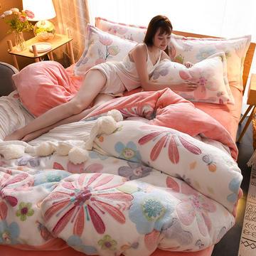 2018年全新雪花绒法莱绒四件套 1.2m(4英尺)床 爱丽丝梦游
