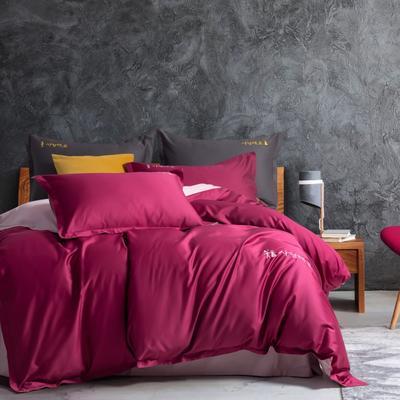2020新款韩版长绒棉四件套-棚拍图 1.5m床单款 气质红