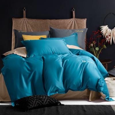 2020新款韩版长绒棉四件套-棚拍图 1.5m床单款 高贵蓝
