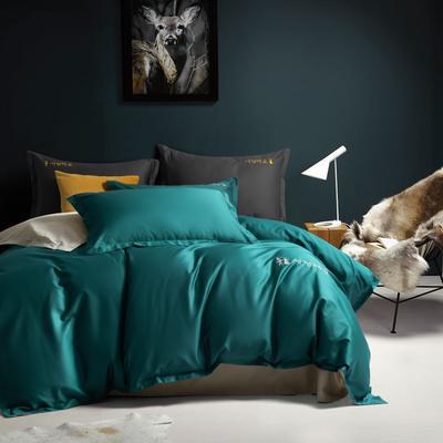 2020新款韩版长绒棉四件套-棚拍图 1.5m床单款 古典绿