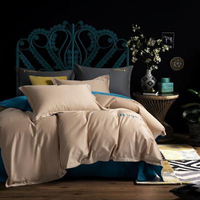 2020新款韩版长绒棉四件套-棚拍图 1.5m床单款 魅力咖