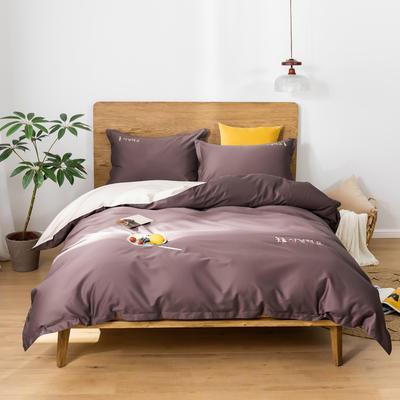 2020新款韩版长绒棉四件套-实拍图 1.5m床单款 熏衣紫