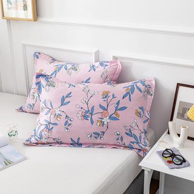20202新款全棉印花系列-单枕套 48cmX74cm/对 浮生若梦 粉