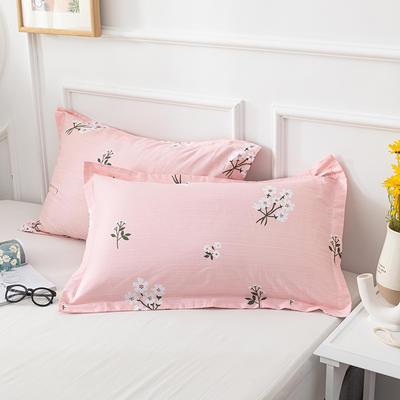 20202新款全棉印花系列-单枕套 48cmX74cm/对 花房迷香 粉