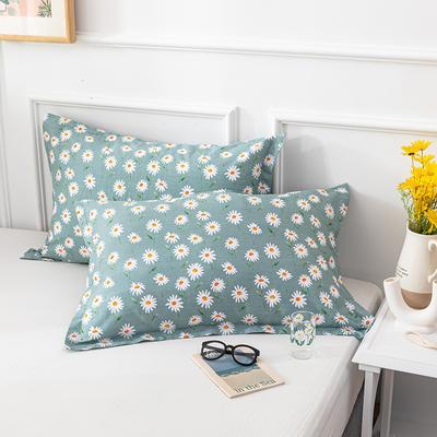 20202新款全棉印花系列-单枕套 48cmX74cm/对 花间蜜语 绿