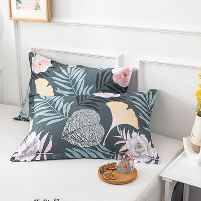 20202新款全棉印花系列-单枕套 48cmX74cm/对 花意轻漫 兰