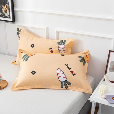 20202新款全棉印花系列-单枕套 48cmX74cm/对 萝卜物语 黄