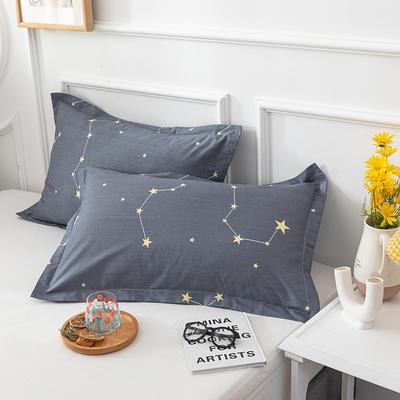20202新款全棉印花系列-单枕套 48cmX74cm/对 星星点坠