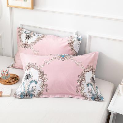 20202新款全棉印花系列-单枕套 48cmX74cm/对 伊莱斯 粉