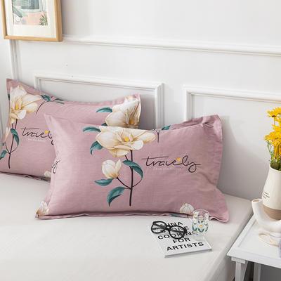 20202新款全棉印花系列-单枕套 48cmX74cm/对 依年幽梦 紫