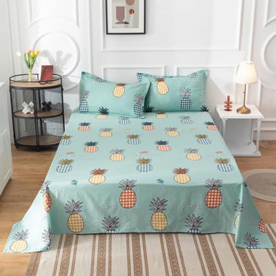 2020新款全棉印花系列-单床单 120*230cm 菠萝多多-绿