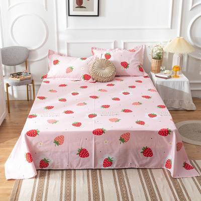 2020新款全棉印花系列-单床单 120*230cm 草莓糖-粉