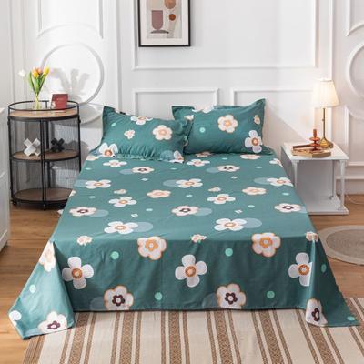 2020新款全棉印花系列-单床单 120*230cm 花田喜事-绿