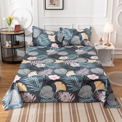 2020新款全棉印花系列-单床单 120*230cm 花意轻漫-兰