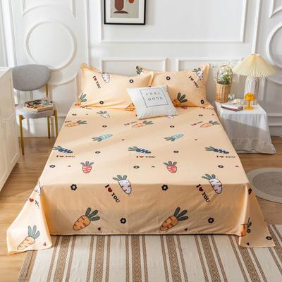2020新款全棉印花系列-单床单 120*230cm 萝卜物语-黄