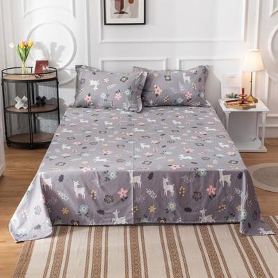 2020新款全棉印花系列-单床单 120*230cm 梦游仙境-灰