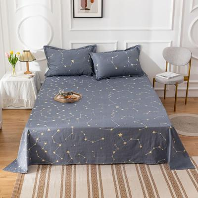 2020新款全棉印花系列-单床单 120*230cm 星星点缀-灰