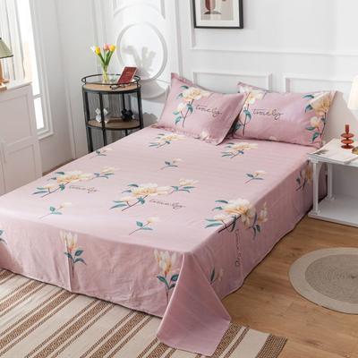 2020新款全棉印花系列-单床单 120*230cm 依年幽梦-粉