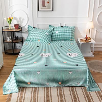 2020新款全棉印花系列-单床单 120*230cm 与你之约-绿