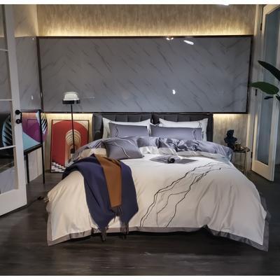 2020新款-约瑟四件套 床单款1.5m(5英尺)床 白色