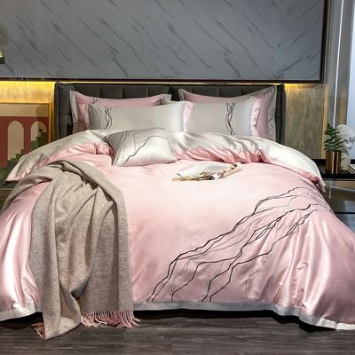 2020新款-约瑟四件套 床单款1.5m(5英尺)床 粉色