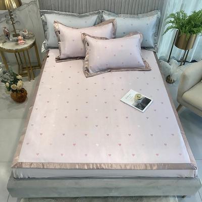 2020新款凉席-爱心 1.5m三件套 粉色床单款