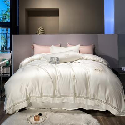 2021春夏新款60S天丝四件套--奈雪系列 1.5m床单款四件套 白色